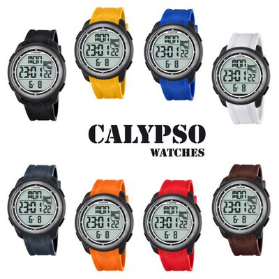 Calypso K5704 Herrenuhr digital Quarz Alarm-Chrono PU-Band – Bild 1