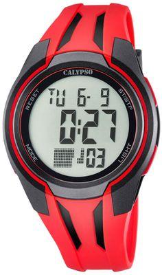 Calypso K5703 Herrenuhr digital Quarz Alarm-Chrono PU-Band – Bild 3