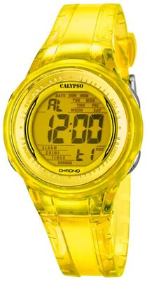 Calypso K5688/6 Damenuhr digital Quarz Alarm-Chrono PU-Band