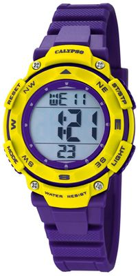 Calypso K5669/8 Damenuhr digital Quarz Alarm-Chrono PU-Band