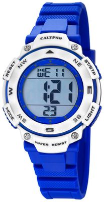 Calypso K5669/7 Damenuhr digital Quarz Alarm-Chrono PU-Band