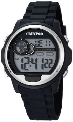 Calypso K5667/1 Herrenuhr digital Quarz Alarm-Chrono PU-Band