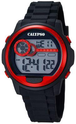 Calypso K5667/2 Herrenuhr digital Quarz Alarm-Chrono PU-Band