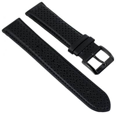 Hugo Boss Uhrenarmband 22mm Leder schwarz für 1513357 HB.87.1.34.2882 – Bild 1