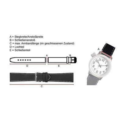Hugo Boss Uhrenarmband 22mm Leder schwarz für 1513357 HB.87.1.34.2882 – Bild 3