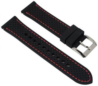 Hugo Boss Uhrenarmband 22mm Silikon schwarz für 1513356 HB.87.1.14.2881 – Bild 1