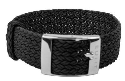 EULIT Uhrenarmband | Durchzugsband Perlon Schwarz | Top Qualität 28929S – Bild 1