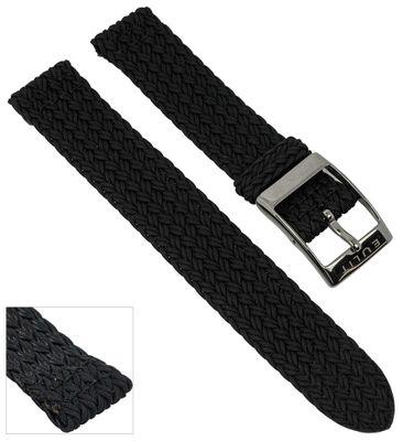 Uhrenarmband Perlon | Zweiteiliges Ersatzband Schwarz 28931S