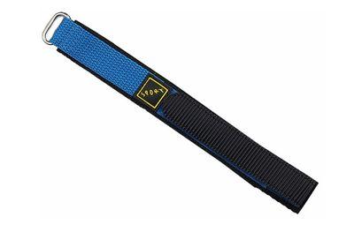 Minott Uhrenarmband | Klettband 20mm Textilband schwarz o. schw./blau – Bild 3