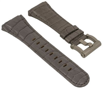 TW STEEL | Uhrenarmband Leder grau für CEO Tech Ø 44mm 28960 – Bild 1