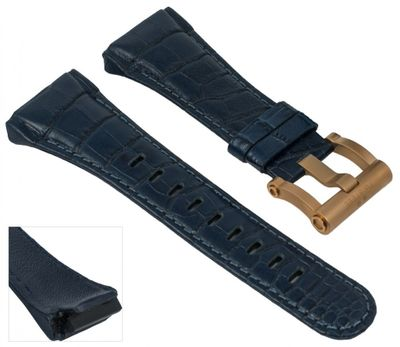 TW STEEL | Uhrenarmband Leder blau für CEO Tech Ø 44mm 28963