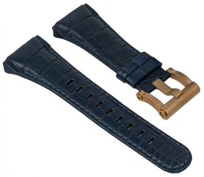 TW STEEL | Uhrenarmband Leder blau für CEO Tech Ø 44mm 28963 – Bild 1