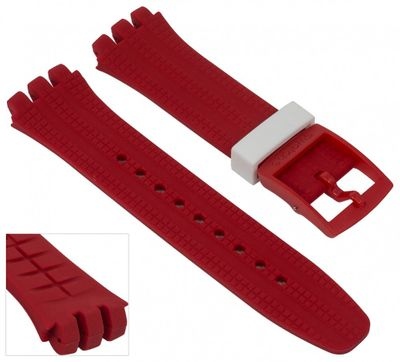 Swatch Chrono Plastic | Uhrenarmband Silikon rot 19mm SUSR403