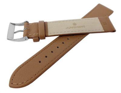Junghans 027/3701 | MAX BILL Uhrenarmband 18mm, glattes Leder, beige – Bild 2