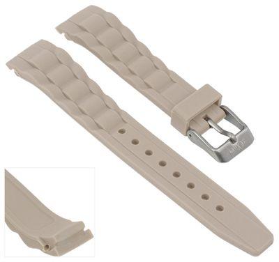 s.Oliver SO-2574-PQ | Uhrenarmband Silikon beige 17mm