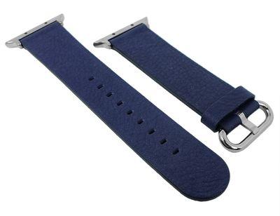 Morellato | Uhrenarmband passend zu Apple Watch 38mm - Leder ► blau – Bild 1