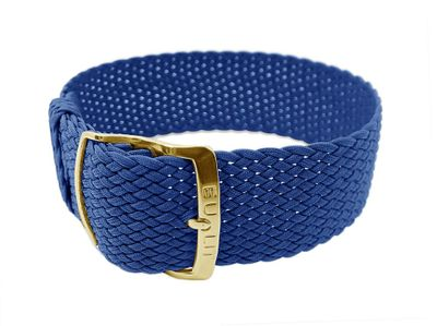 EULIT Uhrenarmband | Durchzugsband Perlon blau 20mm - 29011 – Bild 1