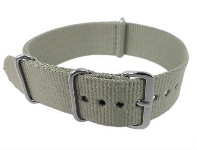Nato-Band 18mm 20mm 22mm 24mm | Outdoor Textil Durchzugsband grau