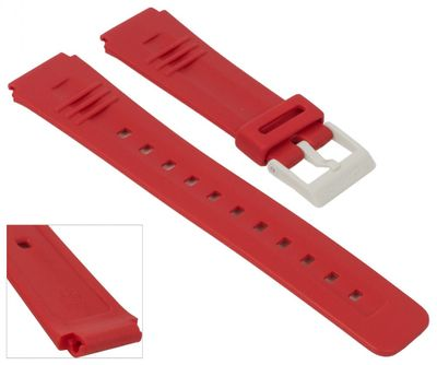 Casio Collection Uhrenarmband | Resin für LDF-40 CA-56 in rot