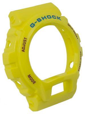 Casio | G-Shock DW-6900 Bezel Lünette gelb mit blau/roter Schrift
