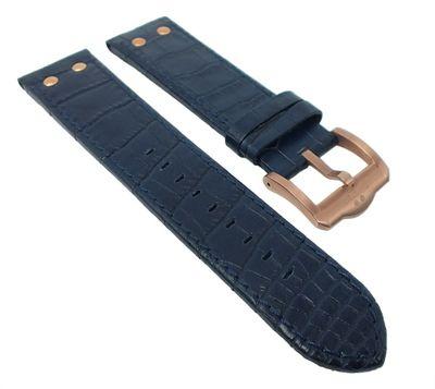 TW STEEL Ersatzband 22mm | Slim Line Ø 45mm Leder blau / rosé TW1305