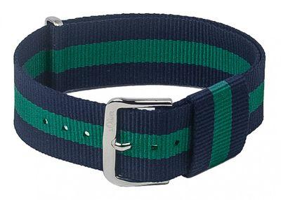 s.Oliver SO-3105-LQ | Nato-Band Textil blau/grün 20mm – Bild 1