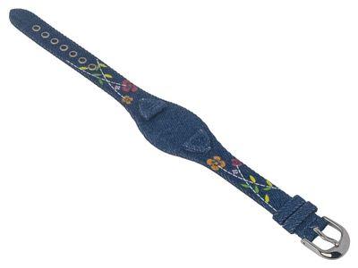 s.Oliver Uhrenarmband Materialmix blau 14mm SO-2381-LQ