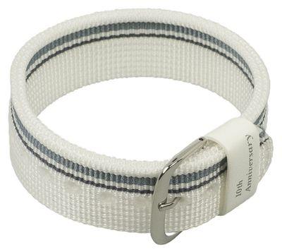 Baby-G Armband | Durchzugsband Textil 20mm für Casio BG-1004AN weiß – Bild 1