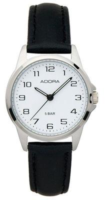 Armbanduhr Damen Analog mit Lederarmband Adora 29400 – Bild 1