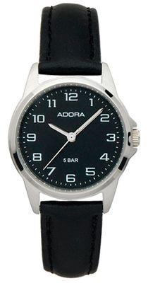 Armbanduhr Damen Analog mit Lederarmband Adora 29400 – Bild 2