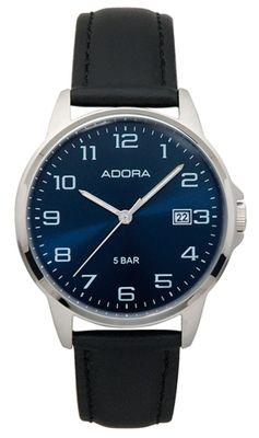 Armbanduhr Herren Analog mit Lederarmband Adora 29401 – Bild 3