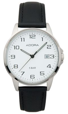 Armbanduhr Herren Analog mit Lederarmband Adora 29401 – Bild 1