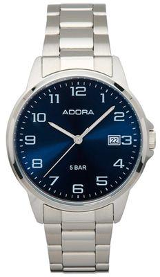 Armbanduhr Herren Analog mit Edelstahlarmband Adora 29402 – Bild 3