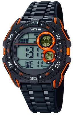 Calypso Watches Herrenuhr digital Quarz schwarz/orange K5670/6
