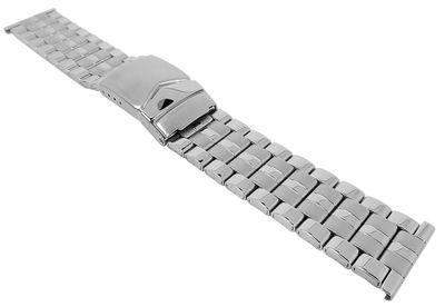 Minott┃Herren Uhrenarmband Edelstahl silberfarben 29472 – Bild 1