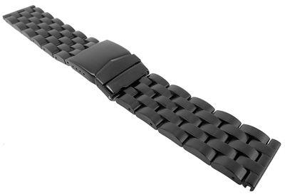 Minott Uhrenarmband Edelstahl massiv schwarz 29477 – Bild 1