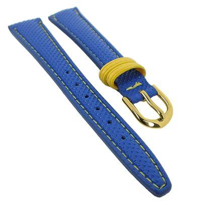Minott Kinder Uhrenarmband Materialmix blau mit Kontrastnaht 29496