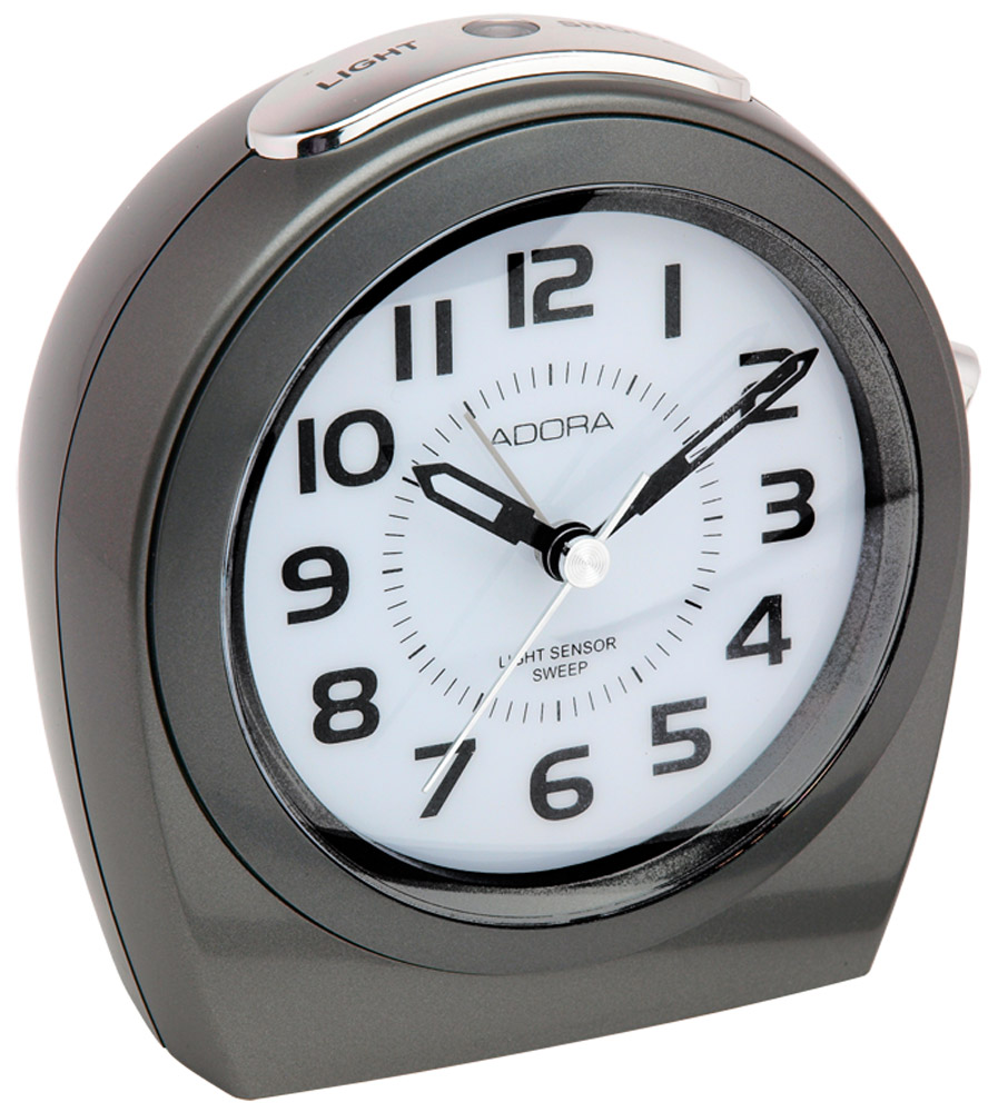 adora wecker analog mit alarm und beleuchtung light sensor 29514 295. Black Bedroom Furniture Sets. Home Design Ideas