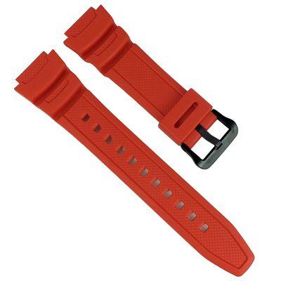 Casio Uhrenarmband AE-1000W | AE-1100W Resin Replacement Band rot – Bild 1