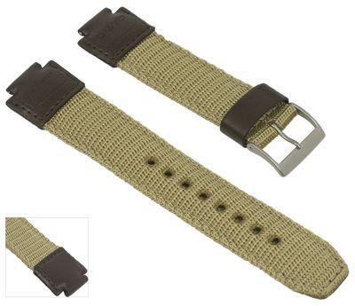 Casio Collection Uhrenarmband 15mm   AQ-180WB Textil/Leder Mix braun – Bild 2