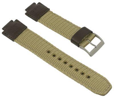 Casio Collection Uhrenarmband 15mm   AQ-180WB Textil/Leder Mix braun – Bild 1