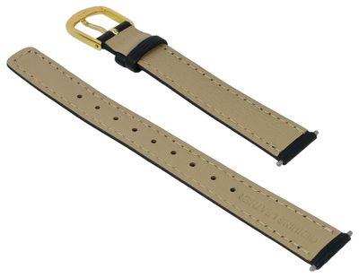 Casio Uhrenarmband 13mm | Leder schwarz für Damenuhr LA670WEGL – Bild 2