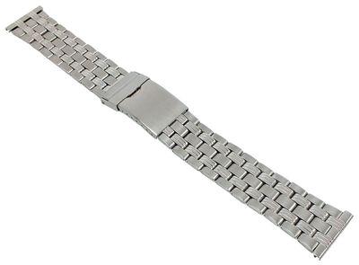 Minott┃Unisex Uhrenarmband 22mm Edelstahl silberfarben 29664S – Bild 1