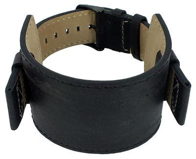 s.Oliver Uhrenarmband Unterlagenband Leder schwarz 22mm SO-3047-LQ – Bild 2