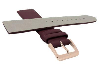 Minott Uhrenarmband | Leder weinrot passend zu Skagen Denmark 29698 – Bild 4