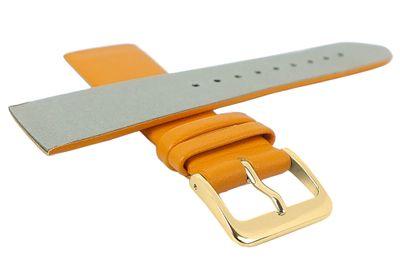 Minott Uhrenarmband | Leder gelborange passend zu Skagen 29702 – Bild 2