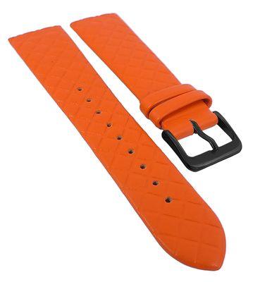 Minott Uhrenband | Leder orange Rautenmuster passend zu Skagen 29751 – Bild 5