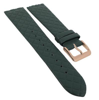Minott Uhrenarmband | Leder dunkelgrün Raute passend zu Skagen 29772 – Bild 3