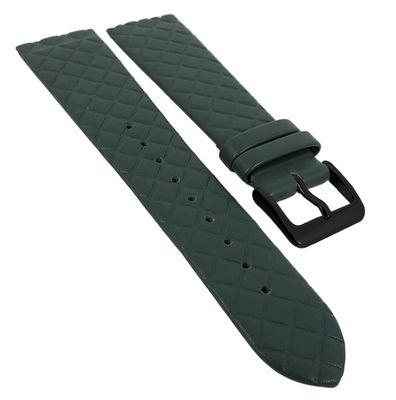 Minott Uhrenarmband | Leder dunkelgrün Raute passend zu Skagen 29772 – Bild 5