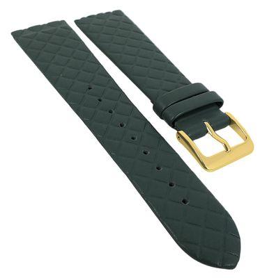 Minott Uhrenarmband | Leder dunkelgrün Raute passend zu Skagen 29772 – Bild 1